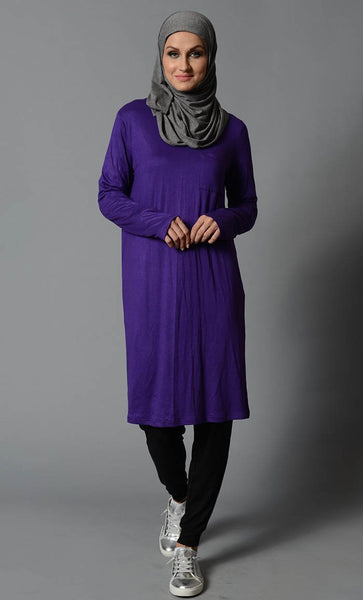 Black Jersey Tunic - EastEssence.com