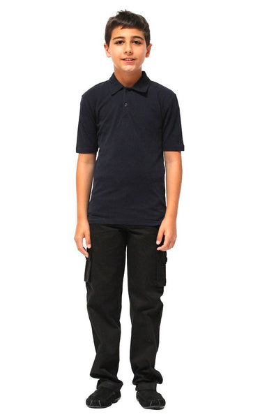 Boys Cotton Short Sleeve Uniform Polo - EastEssence.com