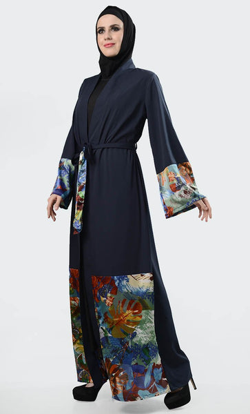 Bright And Shine Printed Shrug - Navy - EastEssence.com
