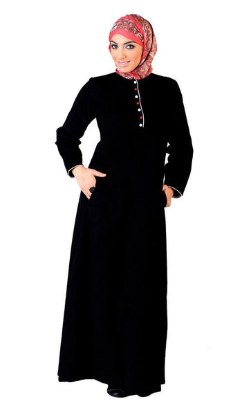 Button down A line Abaya dress - EastEssence.com