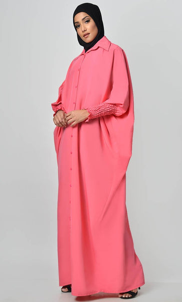 Call It Ruched Sleeve Kaftan - EastEssence.com