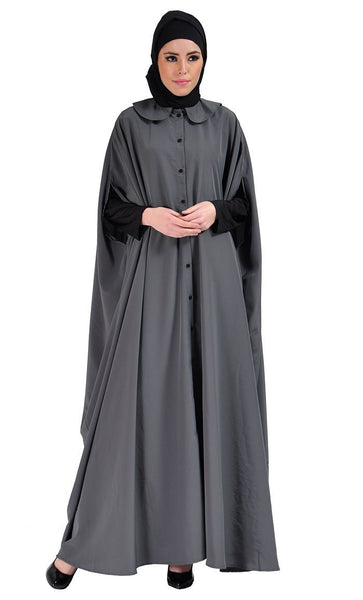 Cape Jilbab Dress - Grey - EastEssence.com