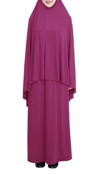 Casual Day 2pcs Abaya and Hijab Set - *Size Up* - EastEssence.com
