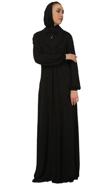 Casual Frill Detailed Abaya Dress - EastEssence.com