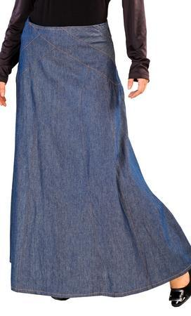 Casual Wear Crossover Stitched Denim Skirt - EastEssence.com