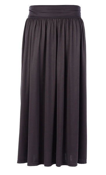 Casual Wear Elasticated Waistband Long Skirt - EastEssence.com