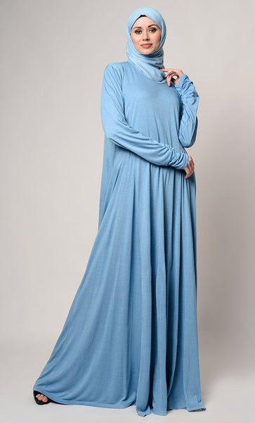 Casual Wear Fully Covered Muslimah Abaya Dress - EastEssence.com