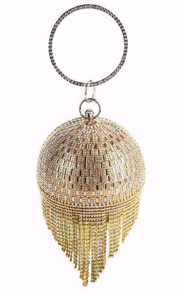 Chandelier Crystal Tote Bag - Gold - EastEssence.com