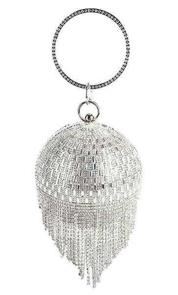 Chandelier Crystal Tote Bag - Silver - EastEssence.com