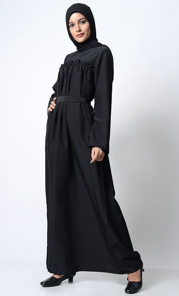 Classic Everyday Wear Abaya-Black - EastEssence.com