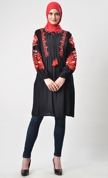 Classic Heavy Embroidered Tunic - EastEssence.com