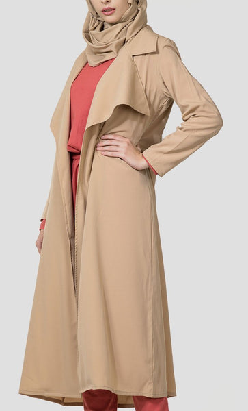 Classic Open Front Trench Duster - EastEssence.com