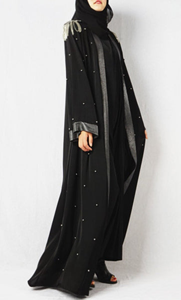 Classy High Fashion Detailed Shrug (Black) - *Size Up* - EastEssence.com