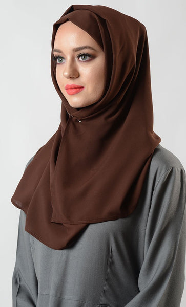 Coffee Crepe Hijab - EastEssence.com