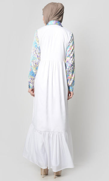 Color of Sky Matched Abaya - EastEssence.com