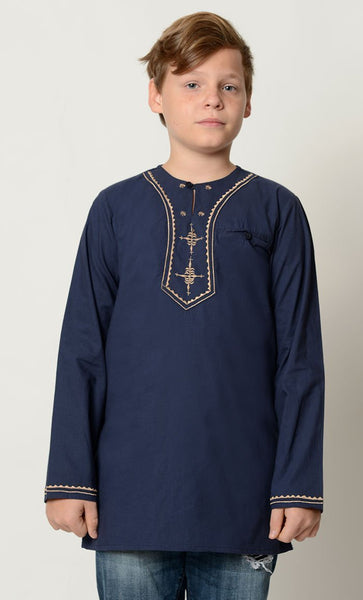Cotton Basic Tunic for boy - EastEssence.com