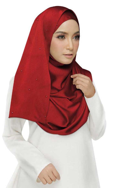 Cotton Plain Stole Red - EastEssence.com