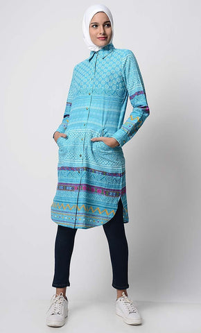 Cotton Printed Everyday Tunic - EastEssence.com