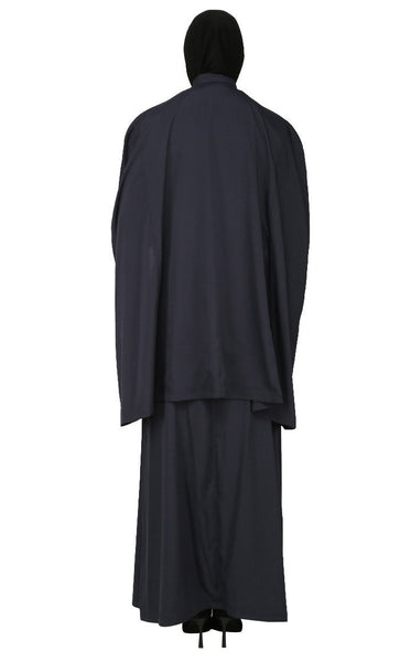 Covered And Modest Wear Tee Shirt, Topwear And Asymmetrical Skirt Three Piece Set - EastEssence.com