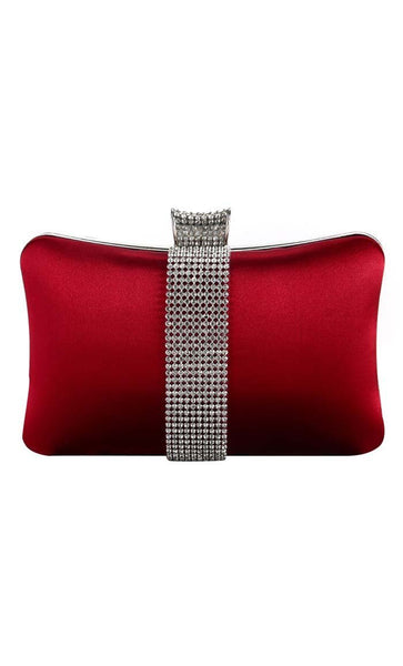 Crystal Foldover Clutche - Red - EastEssence.com
