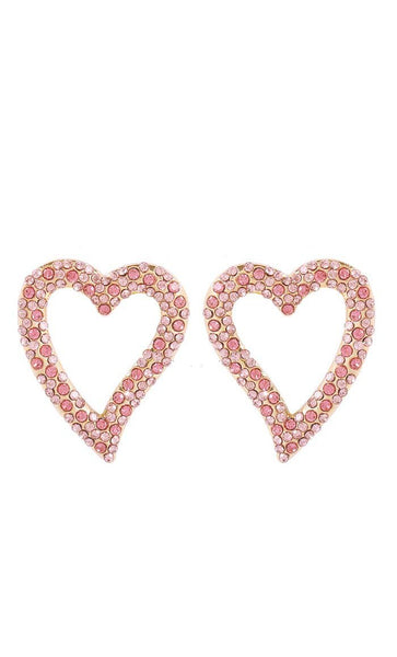 Crystal Heart Earrings - EastEssence.com