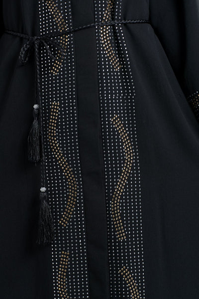 Crystals Embellished Beautiful Evening Wear Abaya Dress - EastEssence.com