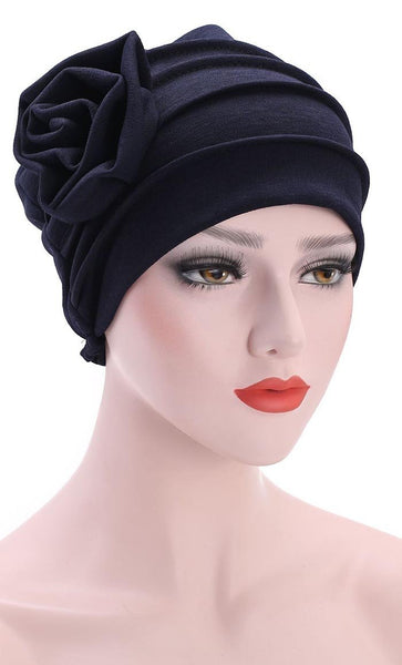 Cute Flower Imposed Turban Bonnet - *Size Up* - EastEssence.com