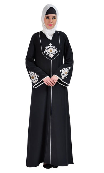 Dalia Embroidered Abaya Dress - EastEssence.com