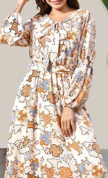 Delicate Art Printed Basic Abaya - EastEssence.com