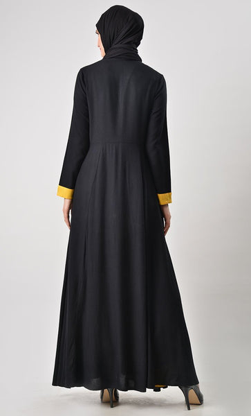 Double Layer With Shurg Abaya - EastEssence.com