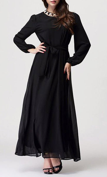 Double Layered Causal Abaya Dress - EastEssence.com