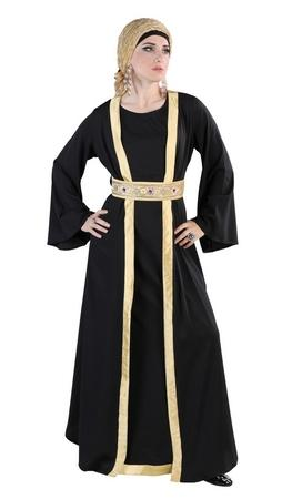 Double layered shaheen abaya dress - EastEssence.com