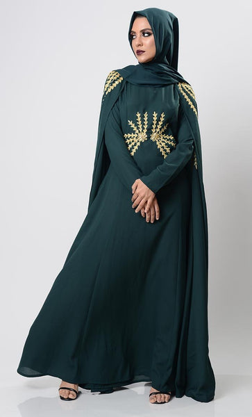 Dramatic Lavish Embroiderd Abaya - EastEssence.com