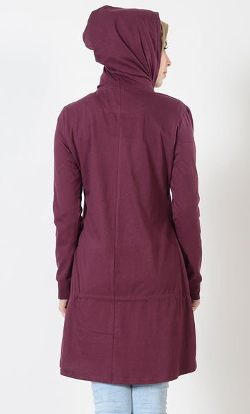 Drawstring Hooded Sport Top - EastEssence.com