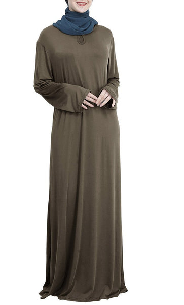 Easy Everyday Basic Style Abaya Dress - *Size Up* - EastEssence.com