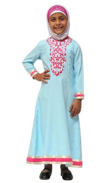 Embroidered Girls Abaya Dress - EastEssence.com