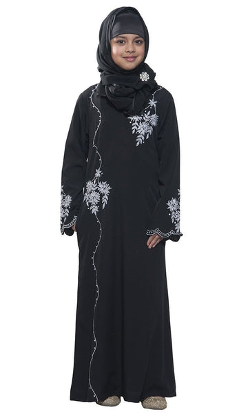 Embroidered Kid's Abaya - EastEssence.com