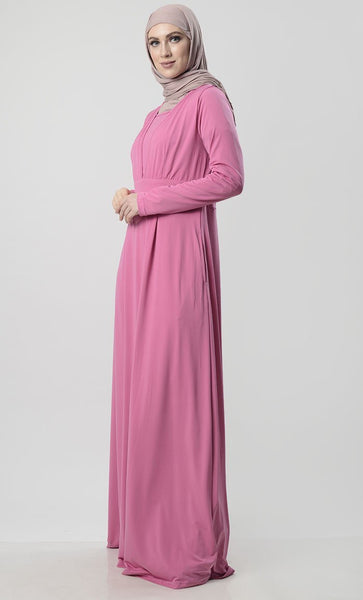 Everyday Abaya With Pockets & Stretch - EastEssence.com