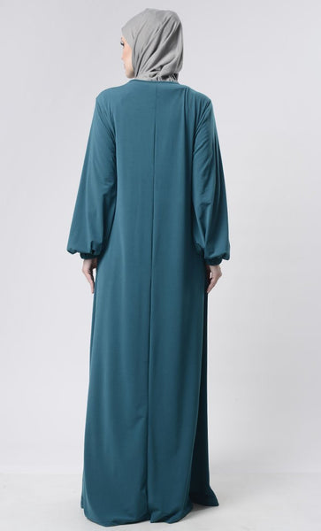 Everyday Casual Wear Abaya With Pockets - EastEssence.com