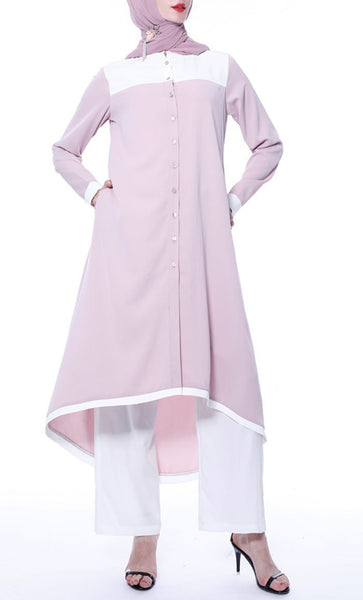 Everyday Simple Long Tunic set - Candy Pink - *Size Up* - EastEssence.com