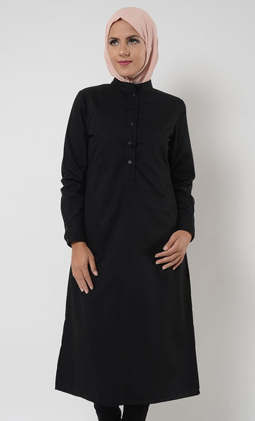 Extra Long Manadarin Tunic - EastEssence.com