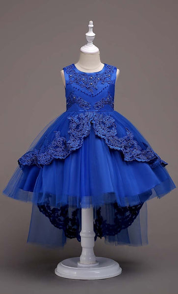 Fairytale Girl's Dress (Dark Blue)-*Size Up* - EastEssence.com