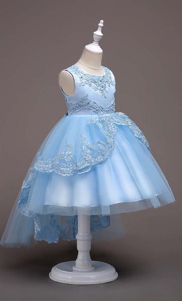 Fairytale Girl's Dress (Sky Blue)-*Size Up* - EastEssence.com