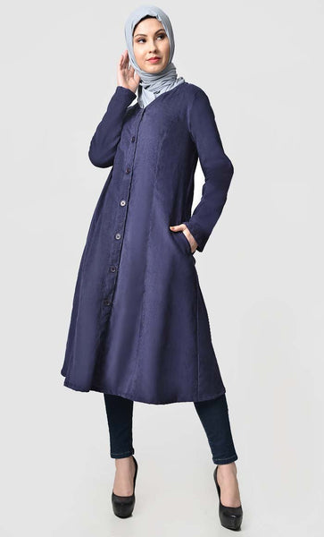Fall buttondown corduroy tunic - EastEssence.com