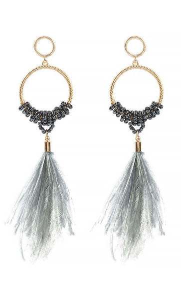 Feather of spring Earrings - EastEssence.com