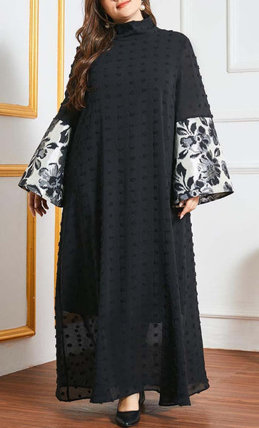 Flared Everyday Wear Abaya-Black - EastEssence.com