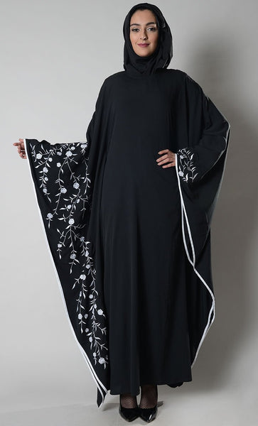 Floral Embroidered Graceful Muslimah Abaya Dress - EastEssence.com
