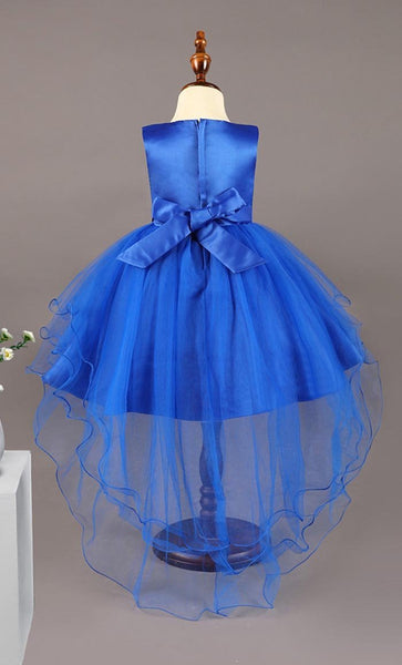 Floret Detailed Girl's Dress (Dark Blue)-*Size Up* - EastEssence.com