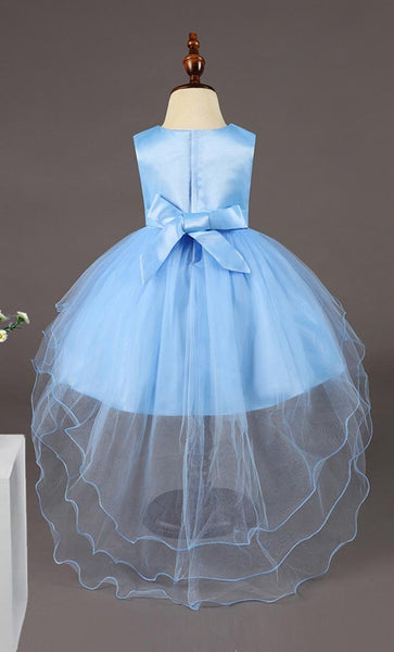 Floret Detailed Girl's Dress (Sky Blue)-*Size Up* - EastEssence.com