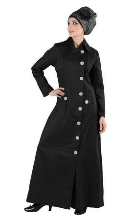 Formal wear jacket style long abaya dress - EastEssence.com